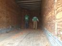 pinestraw in trailer
